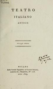 Cover of: Teatro italiano antico | Sperone Speroni