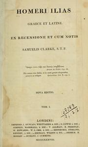 Cover of: Ilias, graece et latine by Homer