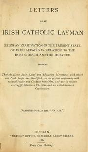 Cover of: Letters of an Irish Catholic layman | Irish Catholic Layman