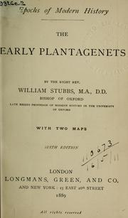 Cover of: Early Plantagenets | Stubbs, William