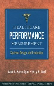 Cover of: Healthcare performance measurement
