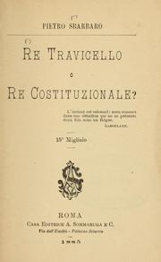 Cover of: Re travicello o re costituzionale? by Pietro Sbarbaro