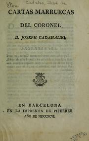 Cover of: Cartas marruecas del Coronel | José Cadalso