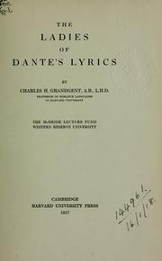 Cover of: The ladies of Dante