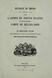 Cover of: Bataille du Mincio du 8 fevrier 1814 by Camillo Vacani