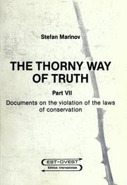 Cover of: The thorny way of truth | Stefan Marinov