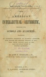 Cover of: The American intellectual arithmetic by John F. Stoddard