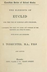 Cover of: The elements of Euclid for the use of schools and colleges | J. Hamblin Smith