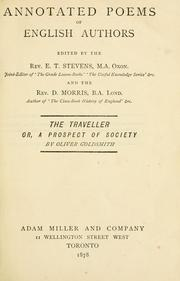 Cover of: Annotated Poems of English Authors (The Traveller, or, A Prospect of Society by Oliver Goldsmith) | E.T. Stevens