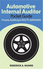 Cover of: Automotive Internal Auditor Pocket Guide: Process Auditing to Iso/ts 16949:2002
