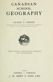 Cover of: Canadian school geography | George A. Cornish