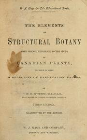 Cover of: The commonly occuring wild plants of Canada, and more especially of the province of Ontario | H. B. Spotton