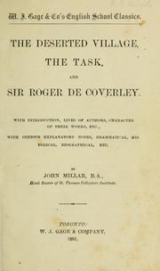 Cover of: The Deserted village, The task, and Sir Roger de Coverley | Oliver Goldsmith