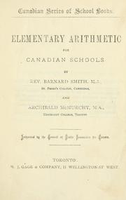 Cover of: Elementary Arithmetic for Canadian Schools | Rev. Barnard Smith