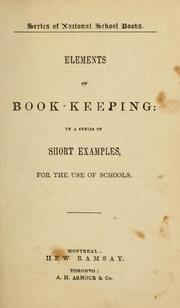 Cover of: Elements of book-keeping by