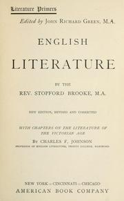 Cover of: English literature | Brooke, Stopford Augustus
