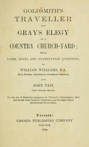 Cover of: Goldsmith's Traveller and Gray's Elegy in a country church-yard | Oliver Goldsmith