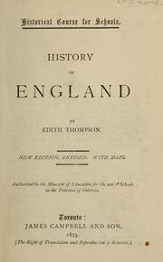 Cover of: History of England | Edith Thompson
