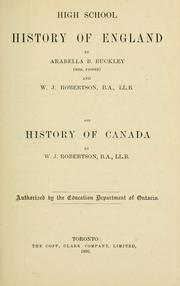 Cover of: High school history of England | Arabella B. Buckley