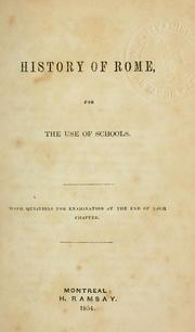 Cover of: History of Rome by