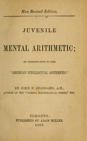 Cover of: Juvenile mental arithmetic | John F. Stoddard