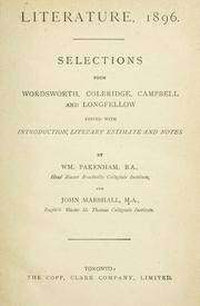 Cover of: Literature, 1896 by Marshall, John