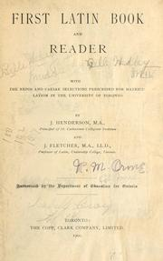 Cover of: First Latin Book and Reader | J. Henderson