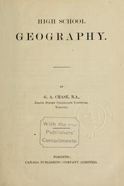 Cover of: High school geography | G.A. Chase