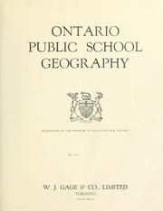 Cover of: Ontario public school geography by Ontario. Dept. of Education