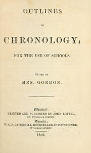 Cover of: Outlines of chronology | Mrs Gordon