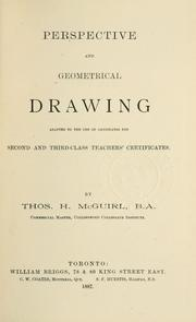 Cover of: Perspective and geometrical drawing | Thos. H. McGuirl