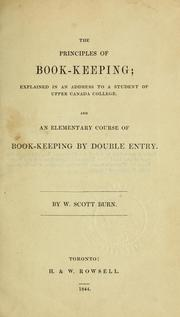 Cover of: The principles of book-keeping by W. Scott Burn
