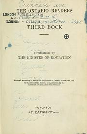 Cover of: The Ontario Readers Third Book by