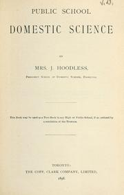 Cover of: Public School Domestic Science | Mrs. J. Hoodless