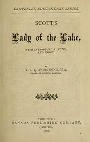 Cover of: Scott's Lady of the lake by Sir Walter Scott