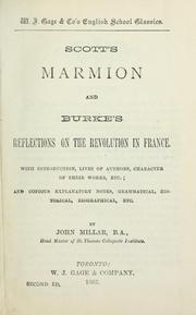 Cover of: Scott's Marmion and Burke's Reflections on the revolution in France | Sir Walter Scott