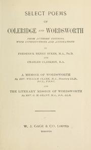 Cover of: Select poems of Coleridge and Wordsworth | Samuel Taylor Coleridge
