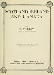 Cover of: Scotland and Ireland and Canada | Berry T. W.
