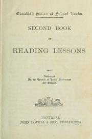 Cover of: Second Book of Reading Lessons by