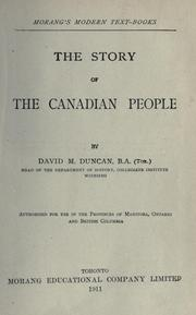 Cover of: The story of the Canadian people | David Merritt Duncan