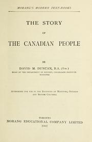 Cover of: The story of the Canadian people by David Merritt Duncan
