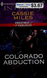 Cover of: Colorado abduction | Cassie Miles