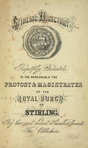 Cover of: Threepenny guide & directory for Stirling, Bridge of Allan, etc by Directories. - Stirling, Town of