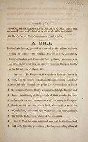 Cover of: A bill to distribute bounty | Confederate States of America. Congress. House of Representatives