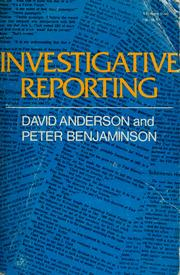 Investigative reporting by Anderson, David