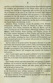 Cover of: A proclamation by United States. President (1861-1865 : Lincoln)