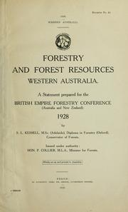 Cover of: Western Australia | British Empire forestry conference, 3d, Australia and New Zealand