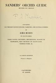 Cover of: Sanders' orchid guide by Sanders, St. Albans