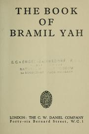 Cover of: The Book of Bramil Yah by