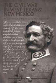 Cover of: The Civil War in West Texas and New Mexico